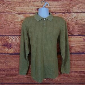 Geoffrey Beene polo golf sweater mens long sleeve